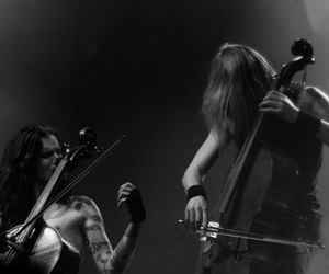 black and white, apocalyptica, and eicca toppinen image