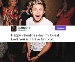 tweet, valentines day, and niall horan image