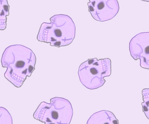 background, purple, and scull image