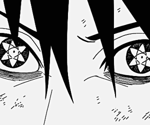 naruto, sasuke, and sharingan image