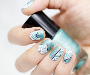 nails, blue, and dots image