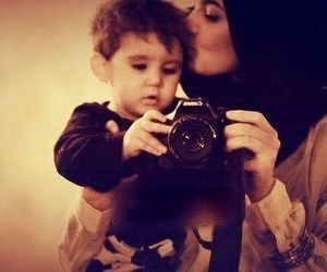 baby, hijab, and camera image