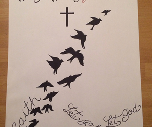 birds, cross, and demi lovato image