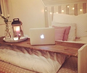 apple, bedroom, and room image