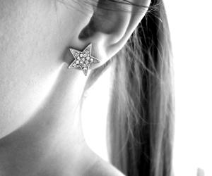 black&white, earrings, and norawidahl image