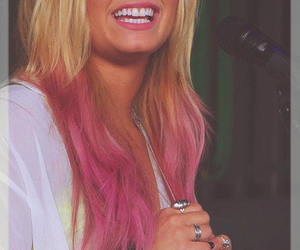 cute, demi lovato, and pink hair image