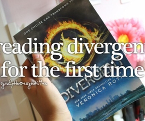 book, divergent, and reading image