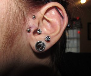 piercing, Tunnels, and stretched ears image