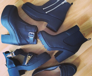 black, boots, and zips image