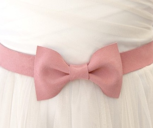 bow, dress, and pink image