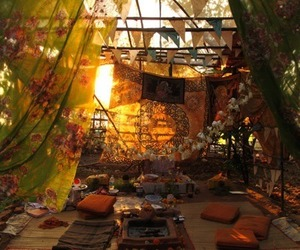 hippie and room image