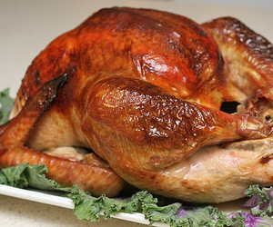 food, roasted, and turkey image