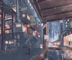 anime and snow image