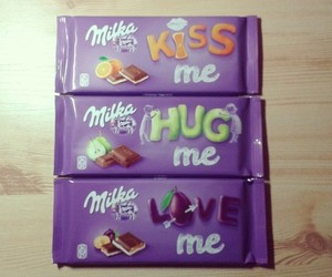 chocolate, milka, and kiss me image