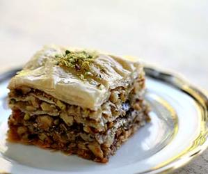 food, baklava, and delicious image
