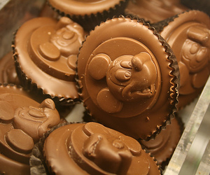 sweet, chocolate, and mickey mouse image