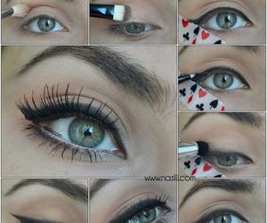 make up, eyes, and eyeliner image