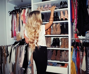 blond girl, fashion, and high heels image