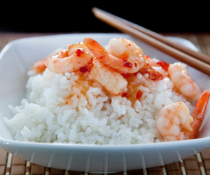 shrimp, rice, and chinese image