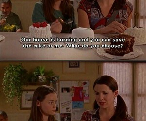 gilmore girls, cake, and funny image