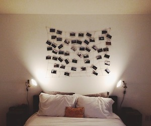 bed, home, and hipster image