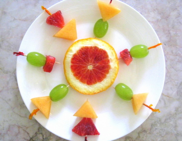 Fruits Decoration In Plate Decoration For Home