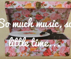 music, time, and flowers image