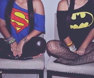 superman, batman, and girl image
