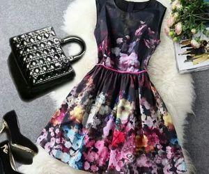dress, black, and bag image