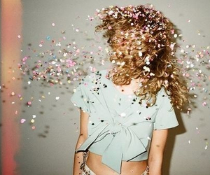 girl, glitter, and indie image
