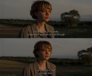 quote, never let me go, and sad image