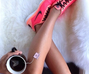nike, tea, and pink image