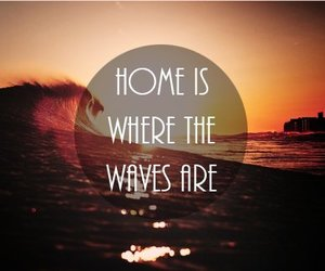 waves, home, and beach image