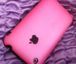 apple, phone, and pink image