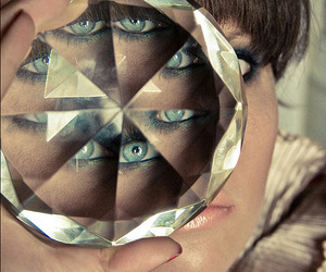 bangs, kaleidoscopic, and refraction image