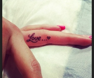 tattoo, love, and fingers image