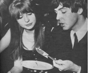 Paul McCartney, jane asher, and the beatles image