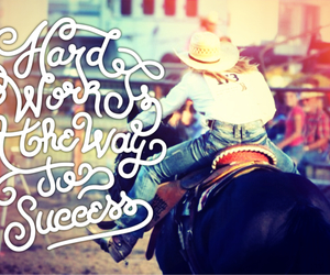 Cowgirl, hard work, and rodeo image