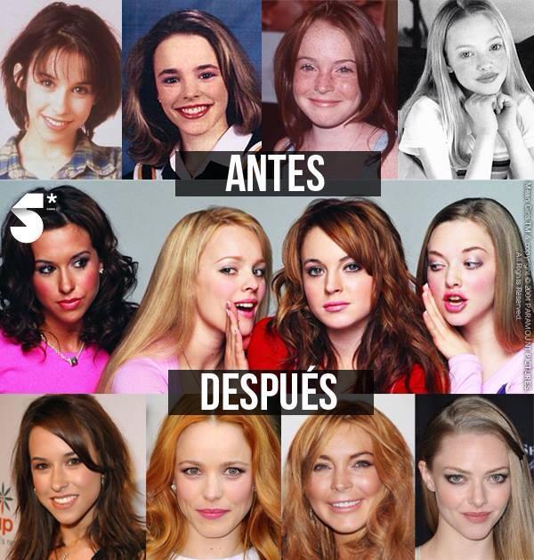 Mean Girls Before After Chicas Pesadas Via Facebook