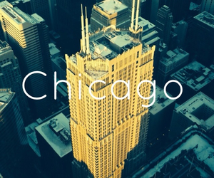 building, chicago, and traveling image