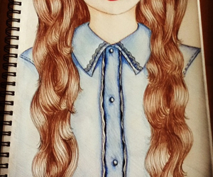 draw, drawings, and girl image