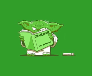 star wars, funny, and grammar image