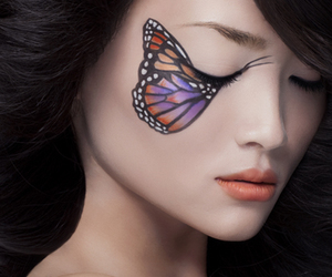 beautiful, butterfly, and preety image