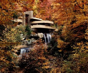 amazing, frank lloyd wright, and water image