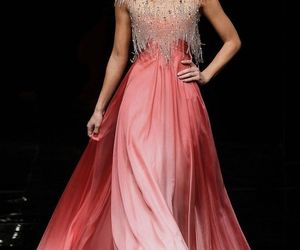 dress, fashion, and pink ombre image