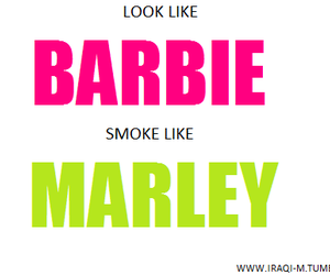 barbie, bob marley, and fun image