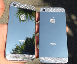 iphone, apple, and diamond image