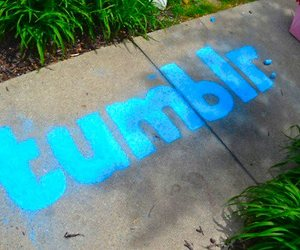 tumblr, blue, and chalk image