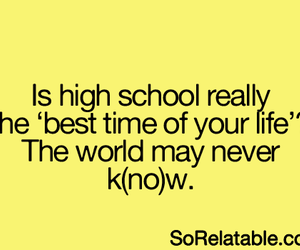 high school, funny, and life image