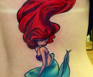 tattoo, ariel, and disney image